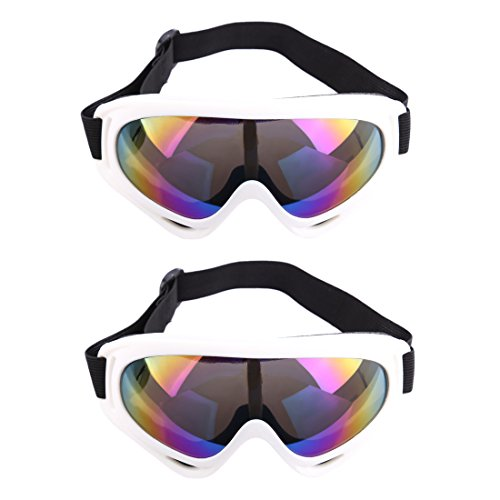 Price comparison product image Protective Goggles, Lingxuinfo 2 Pairs Eye Protective Goggles Safety Goggles for nerf n-strike elite accustrike series nerf party nerf war for Men (White Frame )