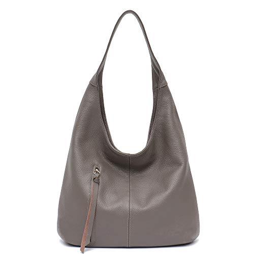 Women Hobo Bags STEPHIECATH Fashion Luxury Cow Leather Soft Tote Shoulder Bag (CLAYNN)