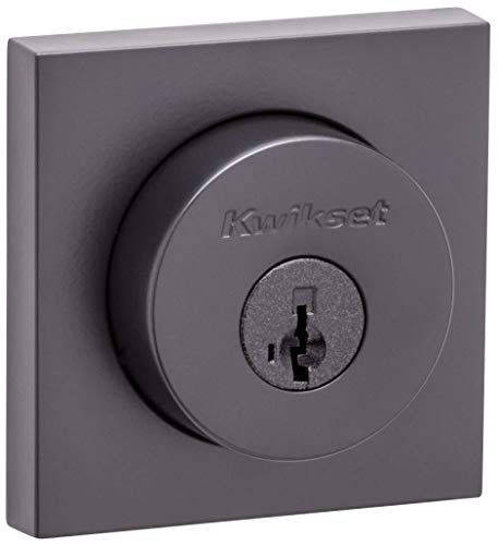 Kwikset 159SQT-S Halifax Double Cylinder Deadbolt with Smartkey Technology, Iron Black