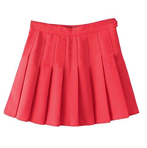 Haute Jupe Rouge Pour Tennis Plissée Femme Taille Jupe short IxwvqTf4nW