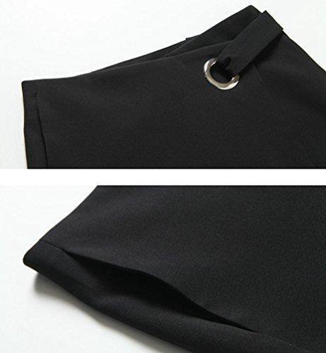 1 Asymetrique Moulant Midi Jupe Noir Femme Crayon Longue Haute Uni CHENGYANG Taille Jupe Cocktail RSTnBOxZwq