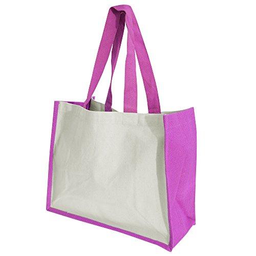 Westford Mill Printers Jute-Tasche / Shopper / Einkaufstasche, 21 Liter Apfelgrün