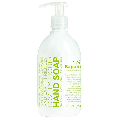Sapadilla 101665 Rosemary + Peppermint Hand Soap, 12oz, Clear