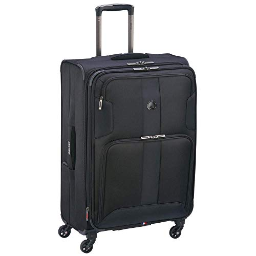 "DELSEY Paris Sky Max 19"" International Carry-on Spinner, Black"