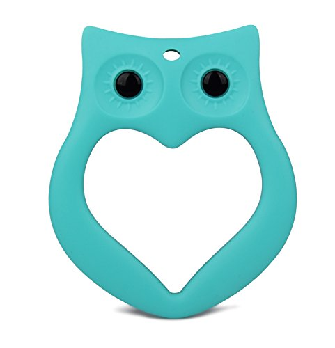 Silicone Baby Teether Food Grade Soft Silicone Gum Massagers,Green (Super Yummy Teether compare prices)