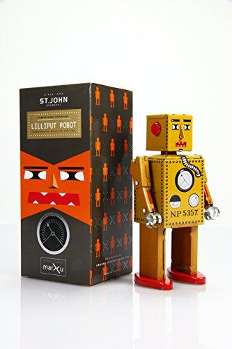 (St. John Retro Lilliput Robot Wind-Up Tin Toy)