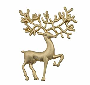 richbest Nueva llegada Sapphire brooches de ciervo de Navidad de aleación de joyería para las mujeres
