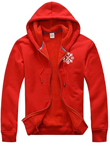 [Monster Hunter Dragon Totem Red Hoodie Coat Cosplay Happy Yohe (XXL)] (Monster Hunter Cosplay Costume)
