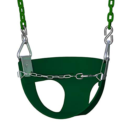 Gorilla Playsets Half Bucket Toddler Swing Color: Green