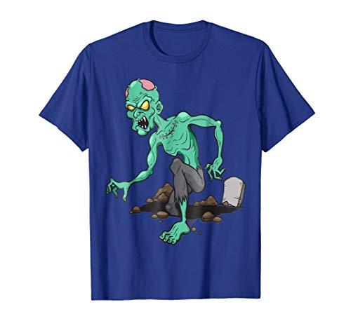 Scary Zombie T-Shirt Retro Halloween Costume Idea ()