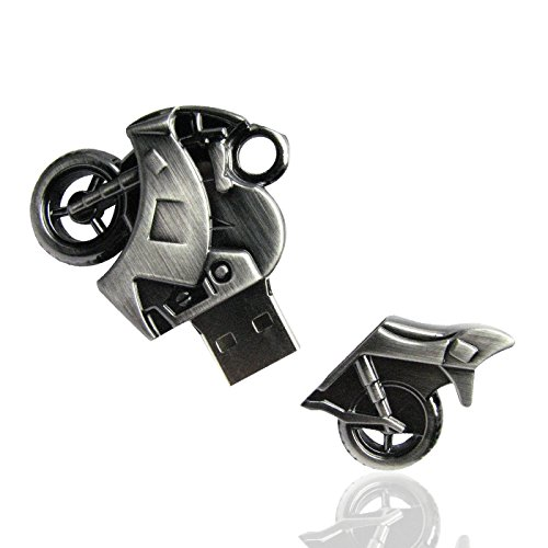 WooTeck 16GB Strong Metal Motorcycle USB Flash Drive Memory Stick Pendrive