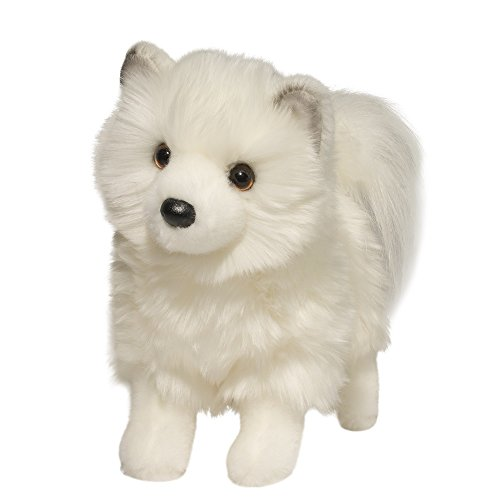 "Douglas Phoebe WHITE POMSKY 10"" Plush Dog Stuffed Animal Pom"
