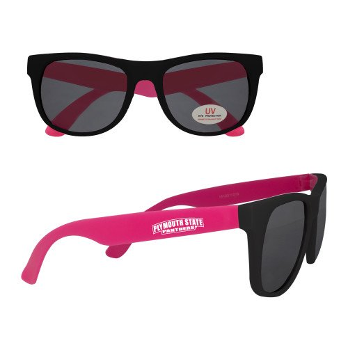 Plymouth State Black/Hot Pink Sunglasses 'Plymouth State - Pink Panther Sunglasses