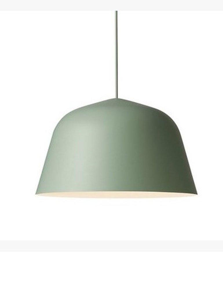 Cozyle Nordic Modern Color Semicircular Aluminum Hanging Light Pendant Lamp Shade Green 25cm
