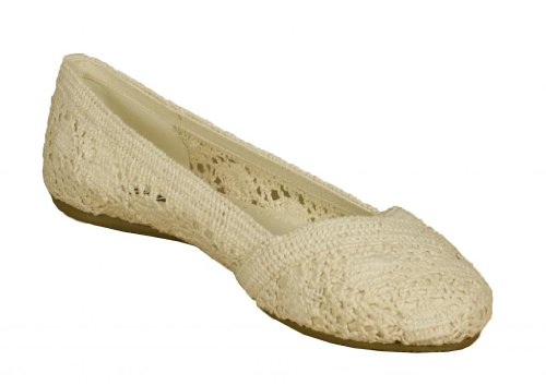 Faddy! Med Soda Hekle Slip-on Ballerina I Beige ...