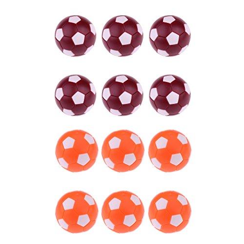 Dovewill Foosball/Soccer Game Table Soccer Balls - 36 mm Regulation Size Foosballs, Dark Red & Orange, 12 Pieces by Dovewill