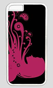 Abstract Psychedelic Girl Pink Thanksgiving Easter PC Transparent Case for Masterpiece Limited Design iphone 6 pluse by Cases & Mousepads