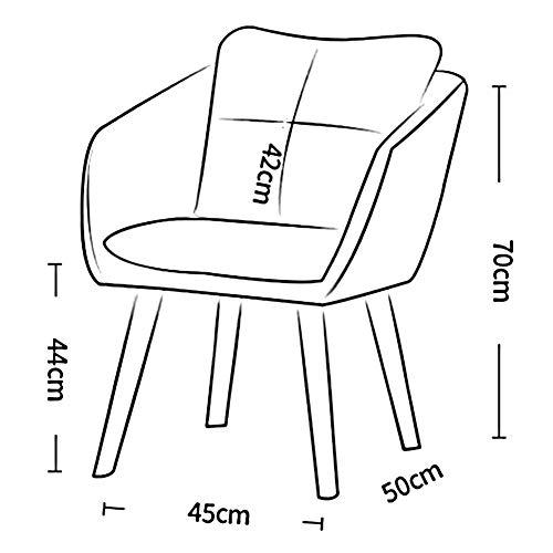 JIEER-C Fritidsstolar matstolar retro design träben fåtölj vardagsrum ryggstödsstol hållbar stark