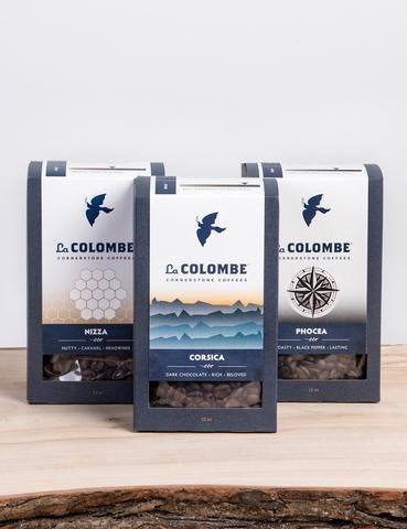 La Colombe Coffee The Originals Pack Whole Bean Corsica Nizza Phocea by La Colombe Coffee