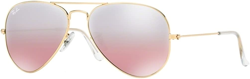 ray ban aviator pink gold gradient mirror