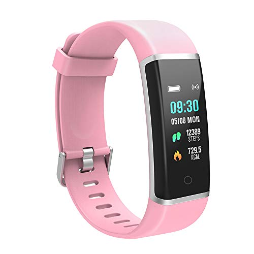 YoYoFit Light Kid Fitness Tracker HR, Heart Rate Monitor Watch with Pedometer Step Counter, Waterproof Smart Fitness Watch for Kids Women Men