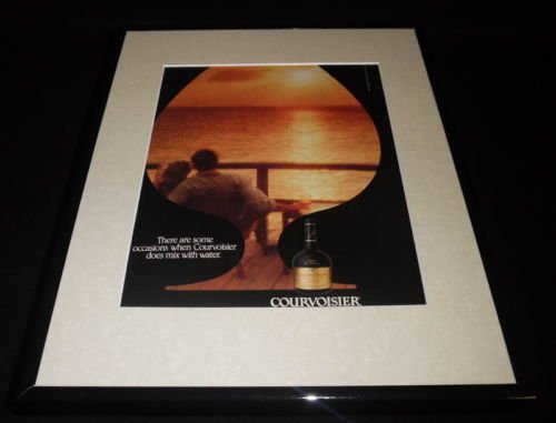 1990-courvoisier-cognac-11x14-framed-original-vintage-advertisement
