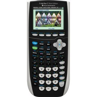 Texas Instruments 84PLSEC/TBL/1L1 TI-84 Plus C Silver Graphing Calculator, Office Central