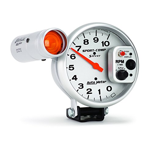 Auto Meter 3911 Sport-Comp Silver Shift-Lite Tachometer by Auto Meter (Image #2)