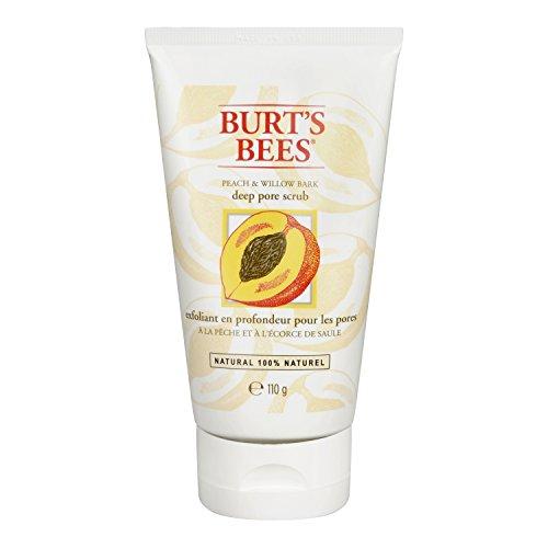 Burt's Bees Peeling für tiefe Porenreinigung mit Pfirsich & Weidenrinde, 1er Pack (1 x 110 g)
