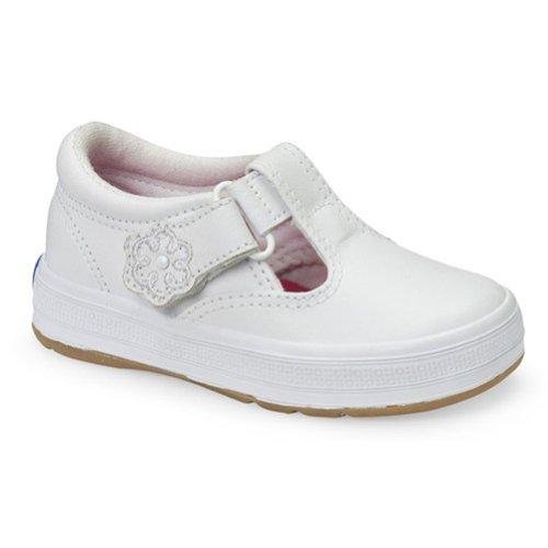 Keds Daphne T-Strap Sneaker (Toddler/Little Kid), White, 7 W US Toddler