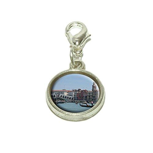 Rialto Bridge Venice Italy Dangling Bracelet Pendant Charm (Italian Charms Venice compare prices)