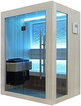 EO-SPA Sauna B1252A clara de pino/150 x 110/Bio-Mini 3kW EOS: Amazon.es: Bricolaje y herramientas
