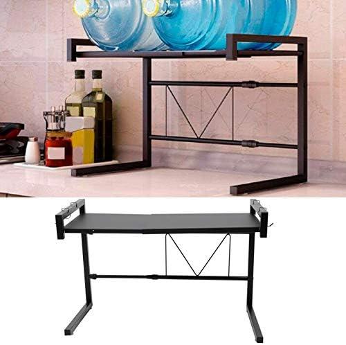 Support de micro-ondes, étagère de four à micro-ondes en acier au carbone pour organisateur de cuisine réglable, pour armoire de cuisine