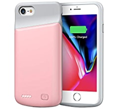 Battery Case for iPhone 7/8, 4500mAh Portable Rechargeable Protective Charging Case Compatible with iPhone 7/8 (4.7 inch) Extended Battery Pack ...