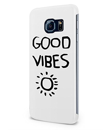 Good Vibes Only Palm Trees California Summer Plastic Snap-On Case Cover Shell For Samsung Galaxy S6 EDGE