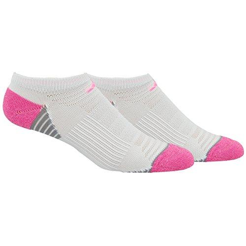 adidas Women's Superlite Speed Mesh No Show Socks (2-Pack), White/Mono Pink/Light Onyx/Mono Pink, Medium