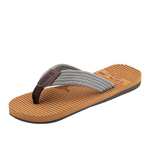 Comfort Antiskid Gray Beach Flops Flip Men'S Flat Sandals Casual Baymate UnY0zqZvx