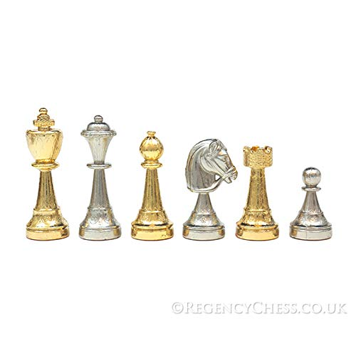 (Regencychess The Messina Gold and Silver Plated Italian Chessmen)