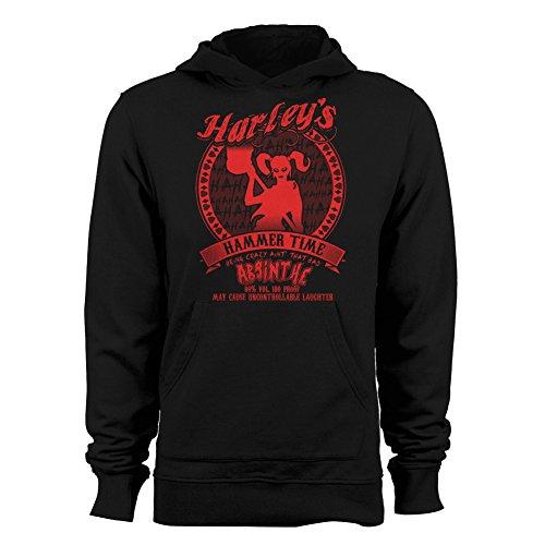 - GEEK TEEZ Harley's Hammer Time Absinthe Women's Hoodie Black XX-Large