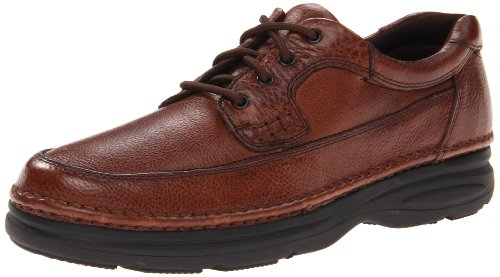 Nunn Bush Men's Cameron Moccasin Toe Oxford with with Comfort Gel, Brown, 14