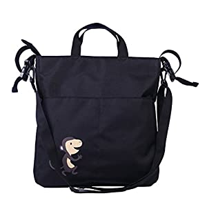 Portable Waterproof Multifunctional Stroller Organizer Fits All Strollers,Extra-Large Storage Space for Phones,Wallets,Diapers,Books,Toys and More (Black)