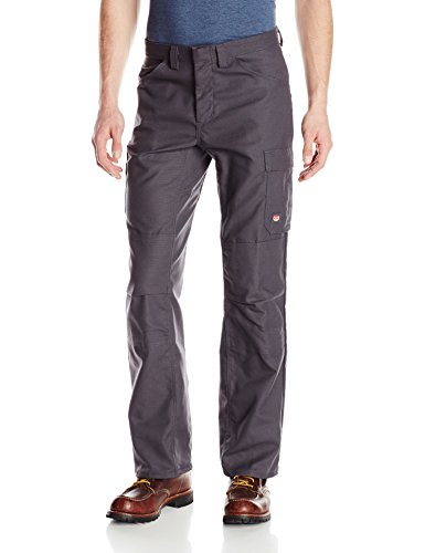 Red Kap Men's Double Knee No-Scratch Shop Pants, Charcoal, (Knee Pocket Canvas Pant)