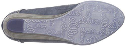 s.Oliver 22308, Zapatos de Tacón Para Mujer, Azul (Denim 802), 40 EU