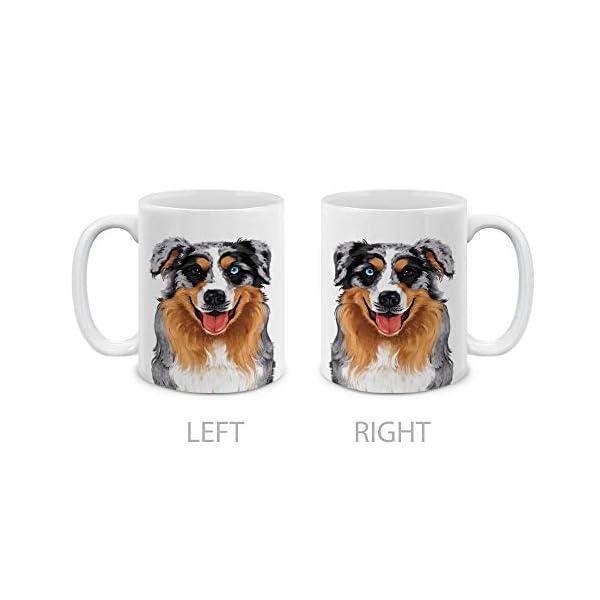 MUGBREW Cute Merle Aussie Australian Shepherd Dog Full Portrait Ceramic Coffee Gift Mug Tea Cup, 11 OZ 2