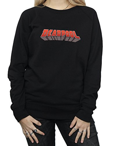 Deadpool Logo Marvel Camisa Text Entrenamiento Mujer Negro De CWw4vq4PA5