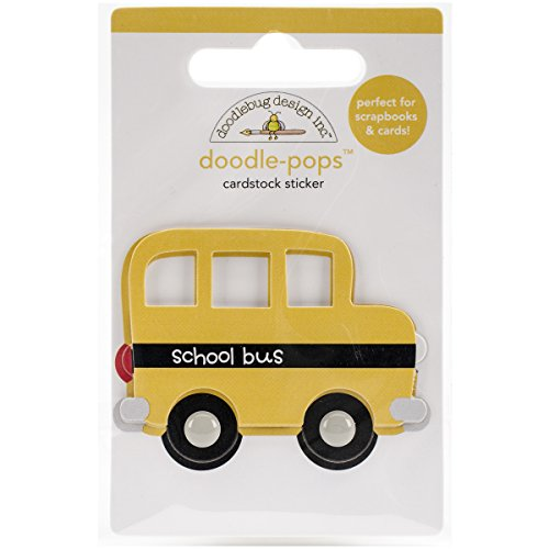 DOODLEBUG SCHDP-4569 Doodle-Pops Little School Bus Embellished 3D Stickers