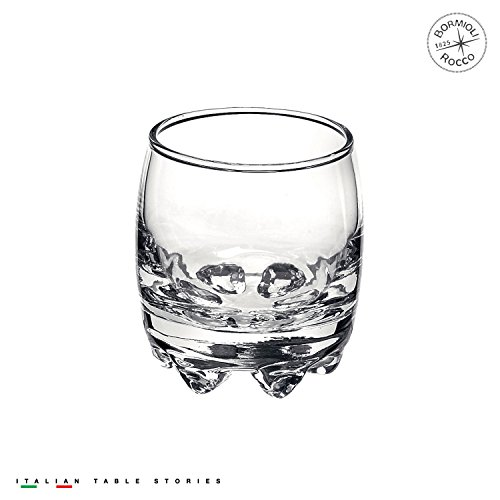 Bormioli Rocco Galassia Shot Glasses – Gift Set Of 6 Drinking Shot Cups With Elegant Curved Shape, Heavy Sham & Interlocking Feet – Short Shooter Tumblers For Liquors & Spirits (2.25oz)