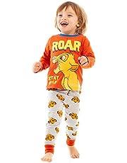 Lion King Disney Simba Roar Boys/Kids Red Long Pyjamas Sleepwear Set