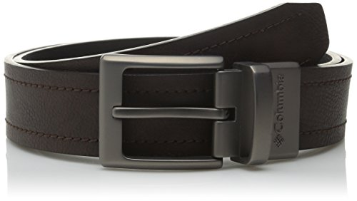 Columbia Men's 1 1/2 in.Alphine Reversible Logo Belt (Regular and Big & (Columbia Brown Belt)