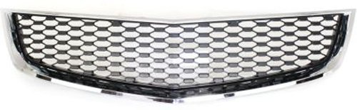 Chevrolet Equinox Grille Insert - Crash Parts Plus Lower Chrome Shell w/ Black Insert Grille Assembly for 10-15 Chevrolet Equinox